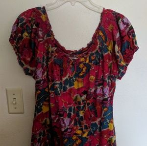 Blouse with gathered waist
